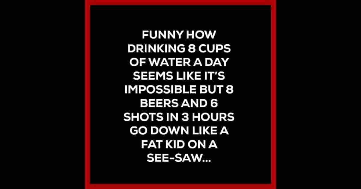 drink water humor