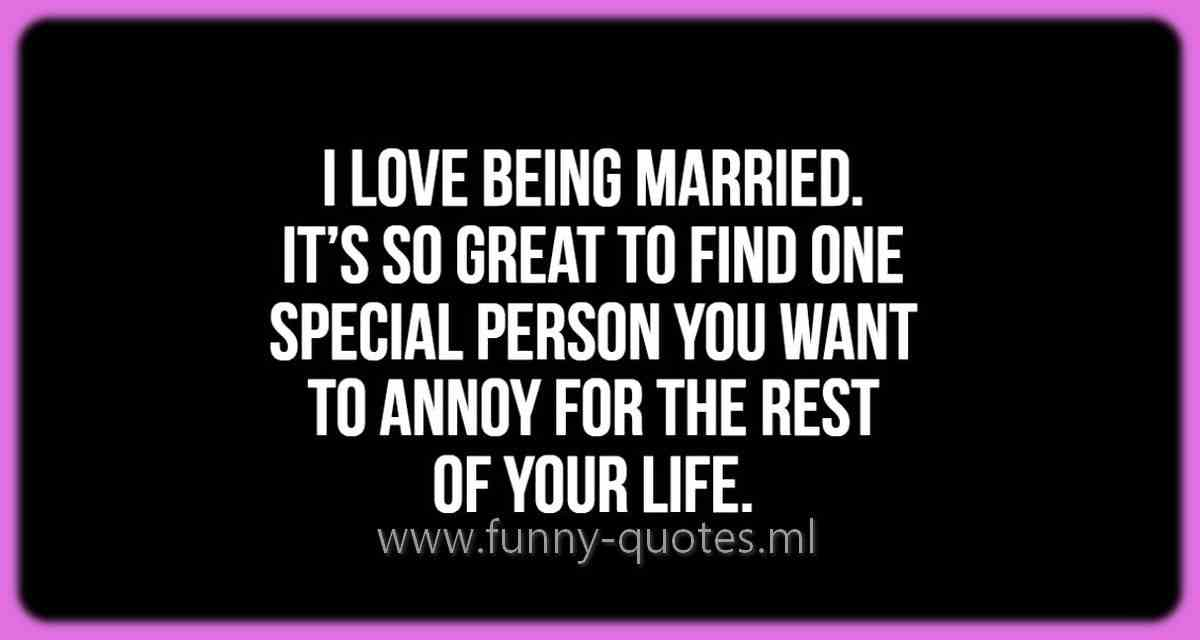 Love being married
