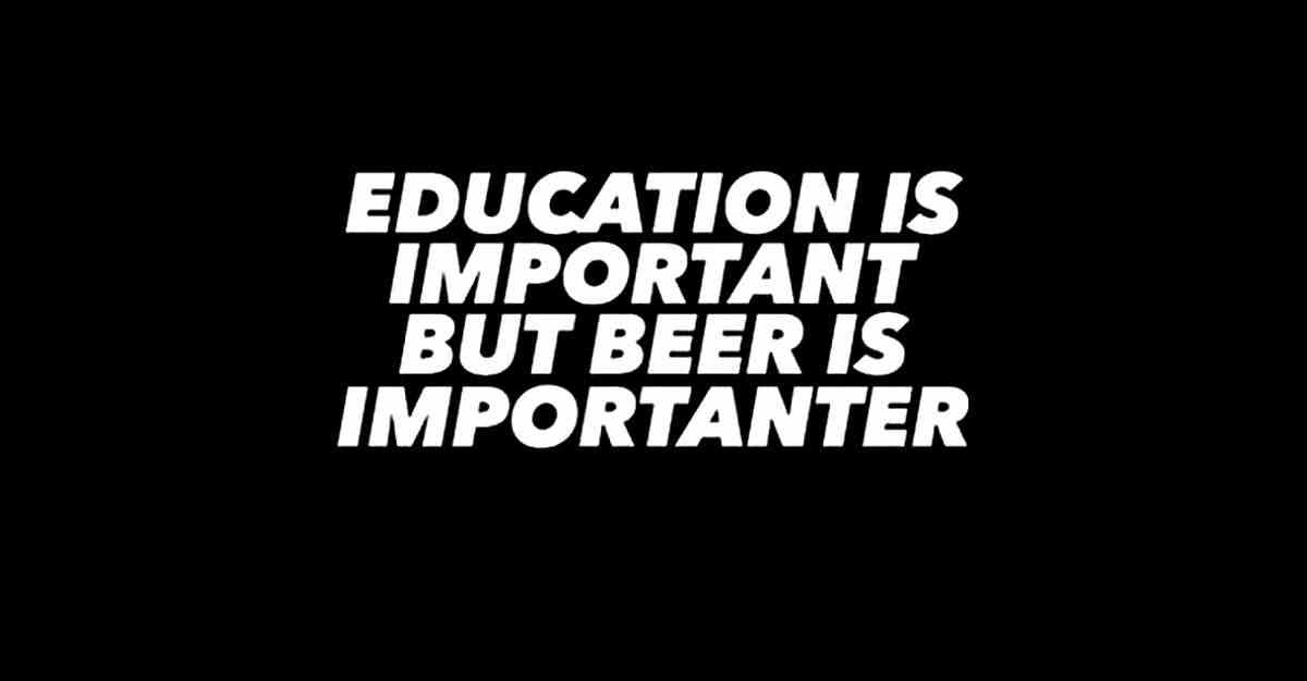 Education is important.