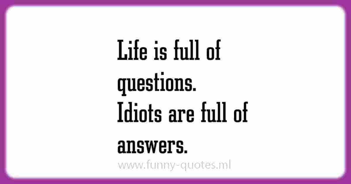 Life Questions Humor Quote
