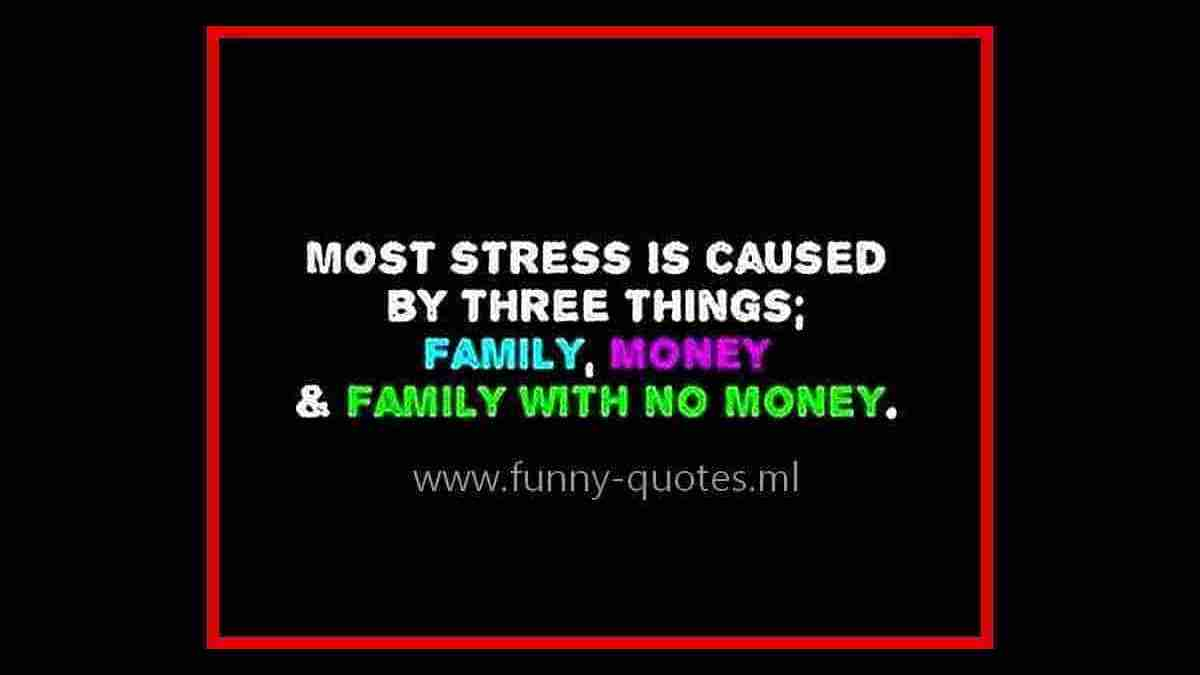 Funny quote about stress