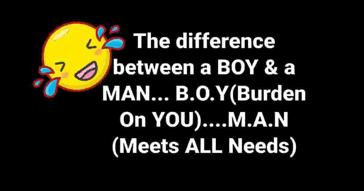 Difference between Boy and Man