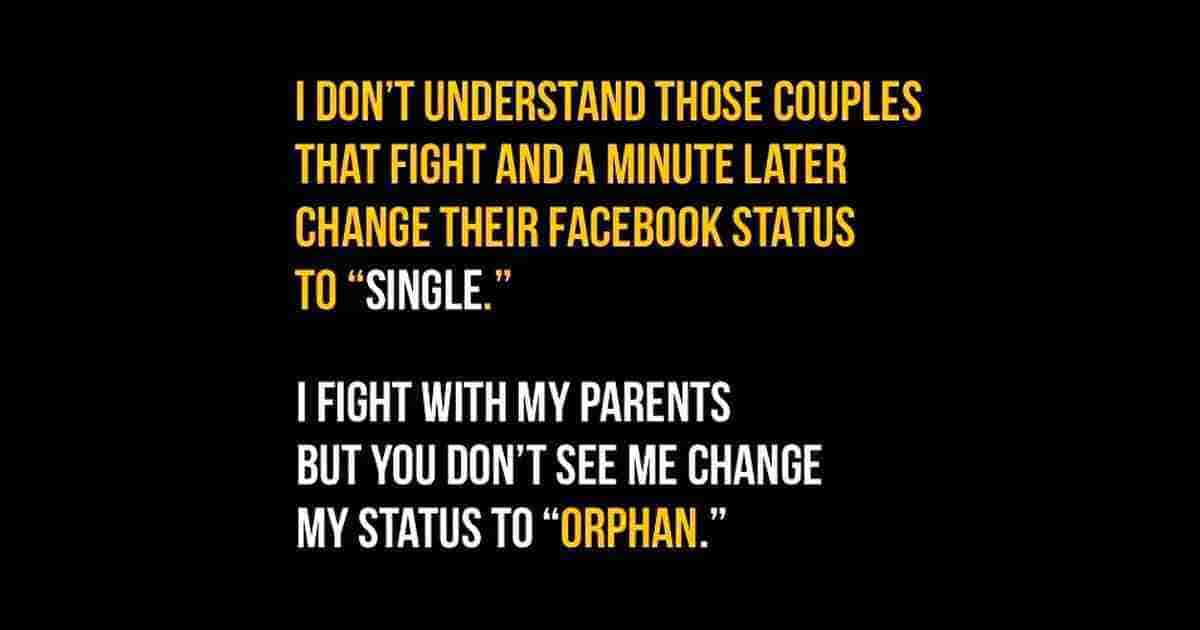 Couples Fight And Change Their Status