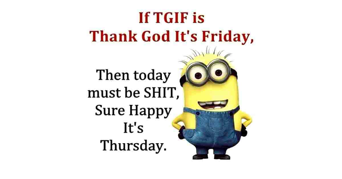Thursday funny quote