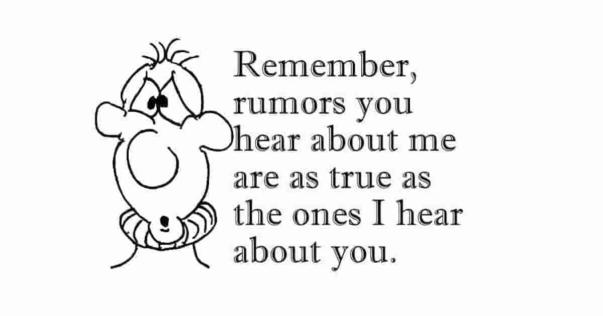 Rumors about me