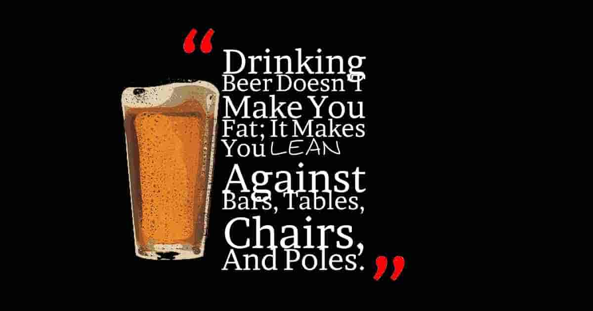 Beer doesn't make you fat