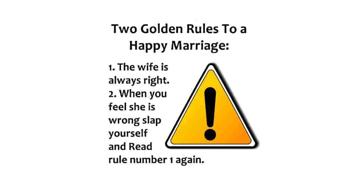 Golden rules for marriage