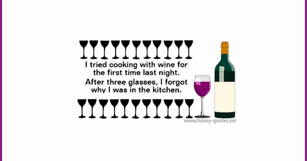 I tried to cook with wine