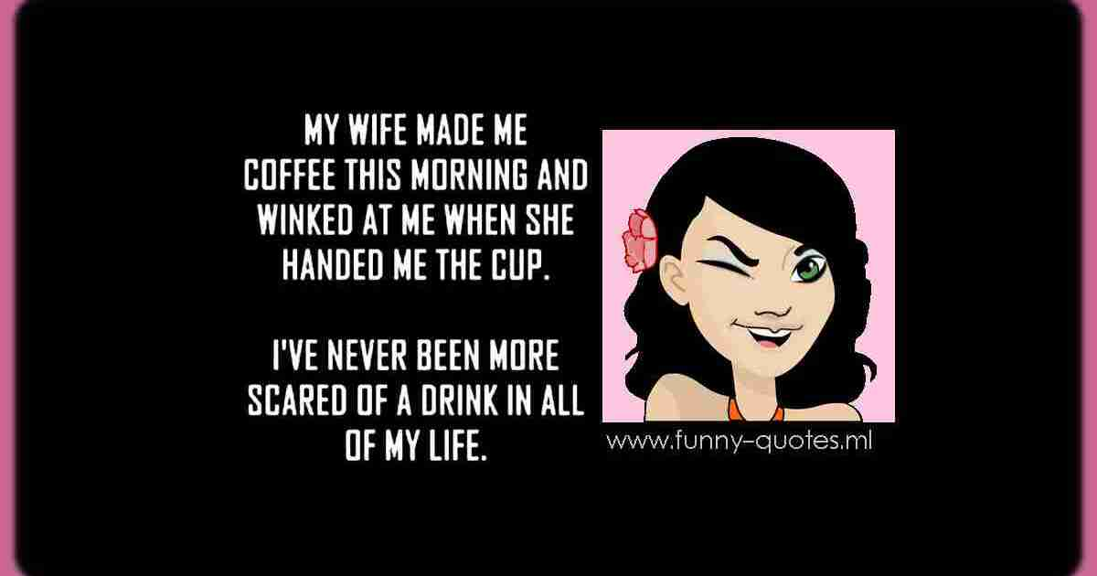 my wife winked at me